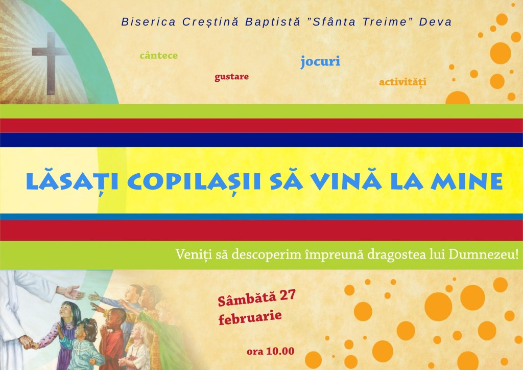 Invitație eveniment pentru copii la Deva