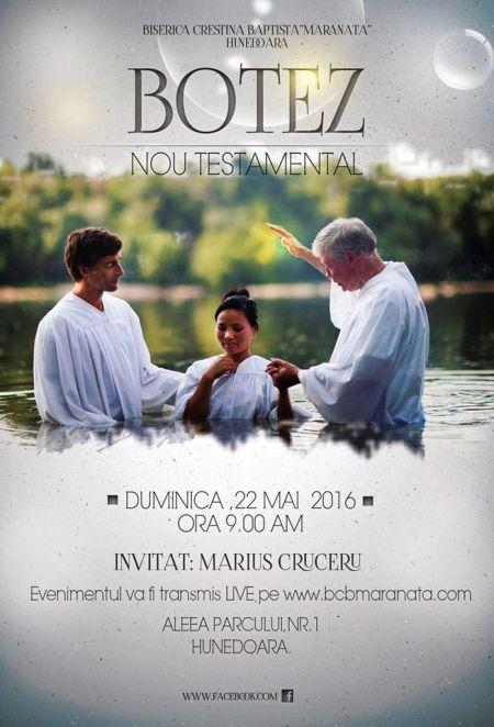 Hunedoara: Botez Nou Testamental la Biserica Maranata