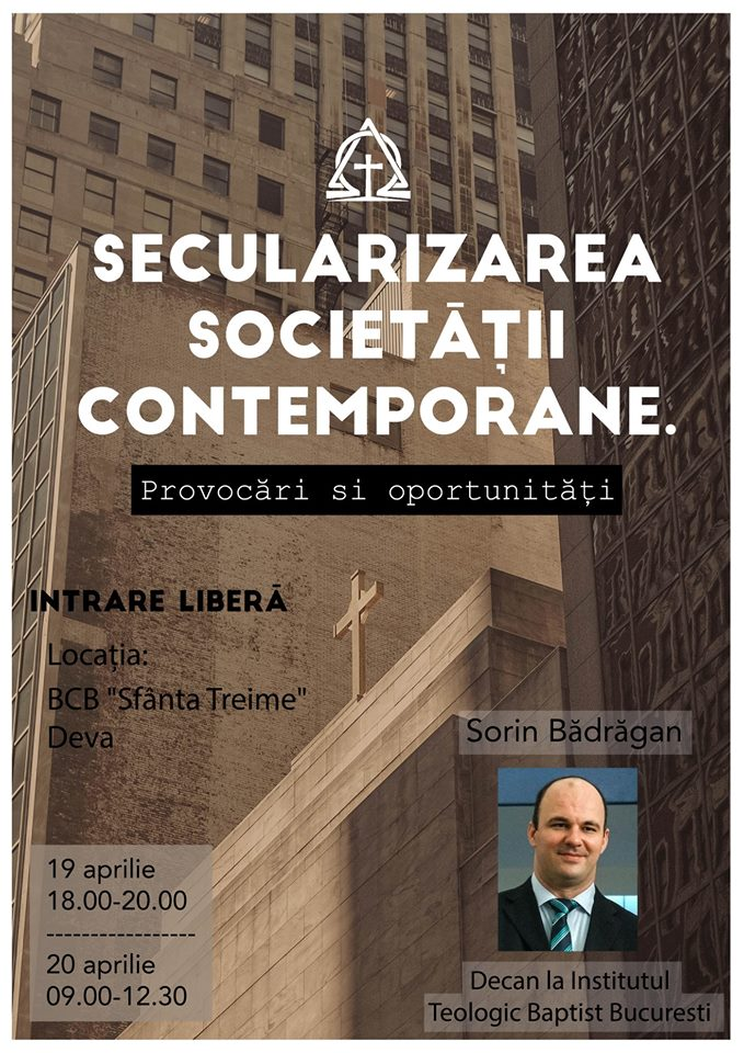 Conferinţă: Secularizarea societăţii contemporane